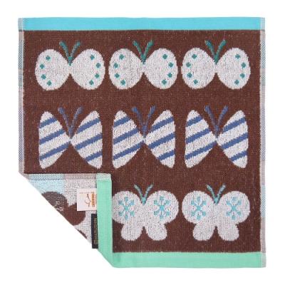 日本丸真 葡萄牙製創意北歐洗臉巾-蝴蝶