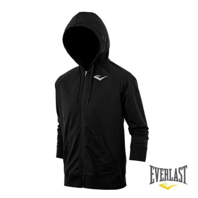 【EVERLAST】男款運動連帽外套-黑色