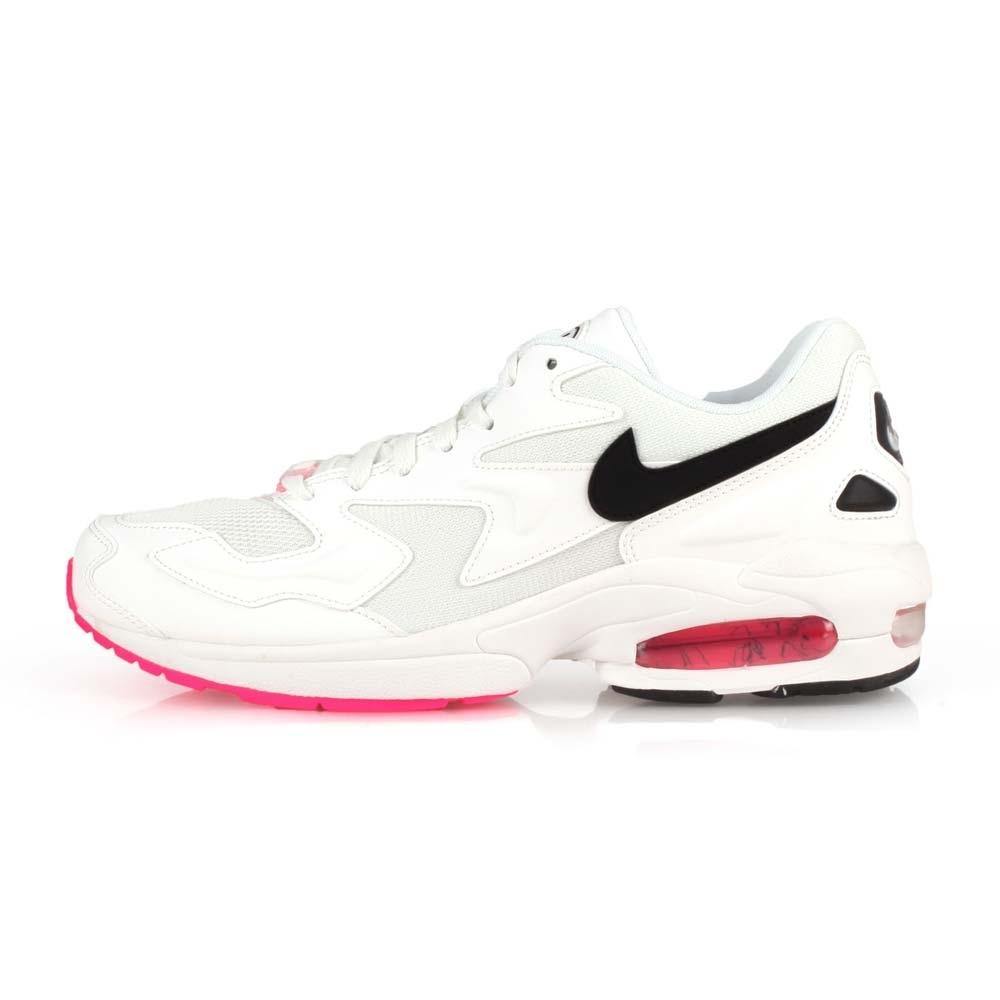 NIKE 男 休閒運動鞋 AIR MAX2 LIGHT 白黑粉