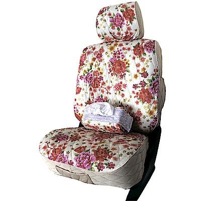 【葵花】量身訂做-汽車椅套-布料-花漾排汗B-露營車款-1+2排