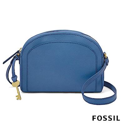 FOSSIL CHELSEA 天藍色半月型斜背包