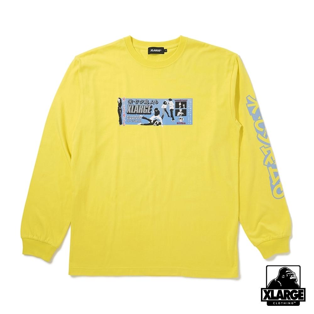 XLARGE L/S TEE FU YOU長袖T恤-黃