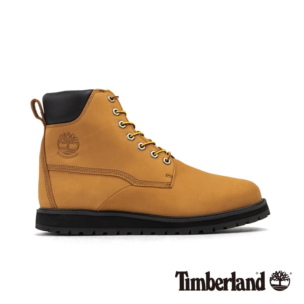 Timberland 男款小麥色磨砂革防水靴|A28B6