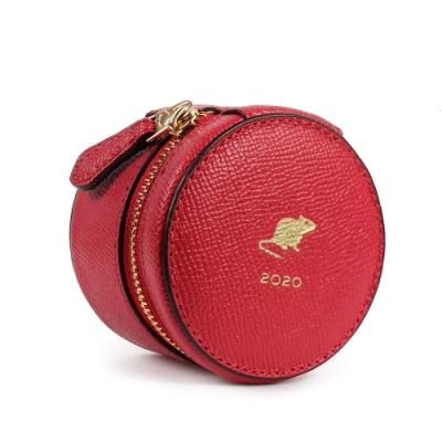 COACH 鼠年限定防刮皮革珠寶盒-紅色