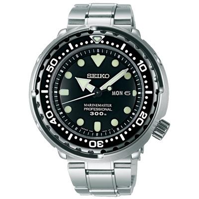 SEIKO精工Prospex運動300米潛水手錶 SBBN031J-黑X銀/47mm