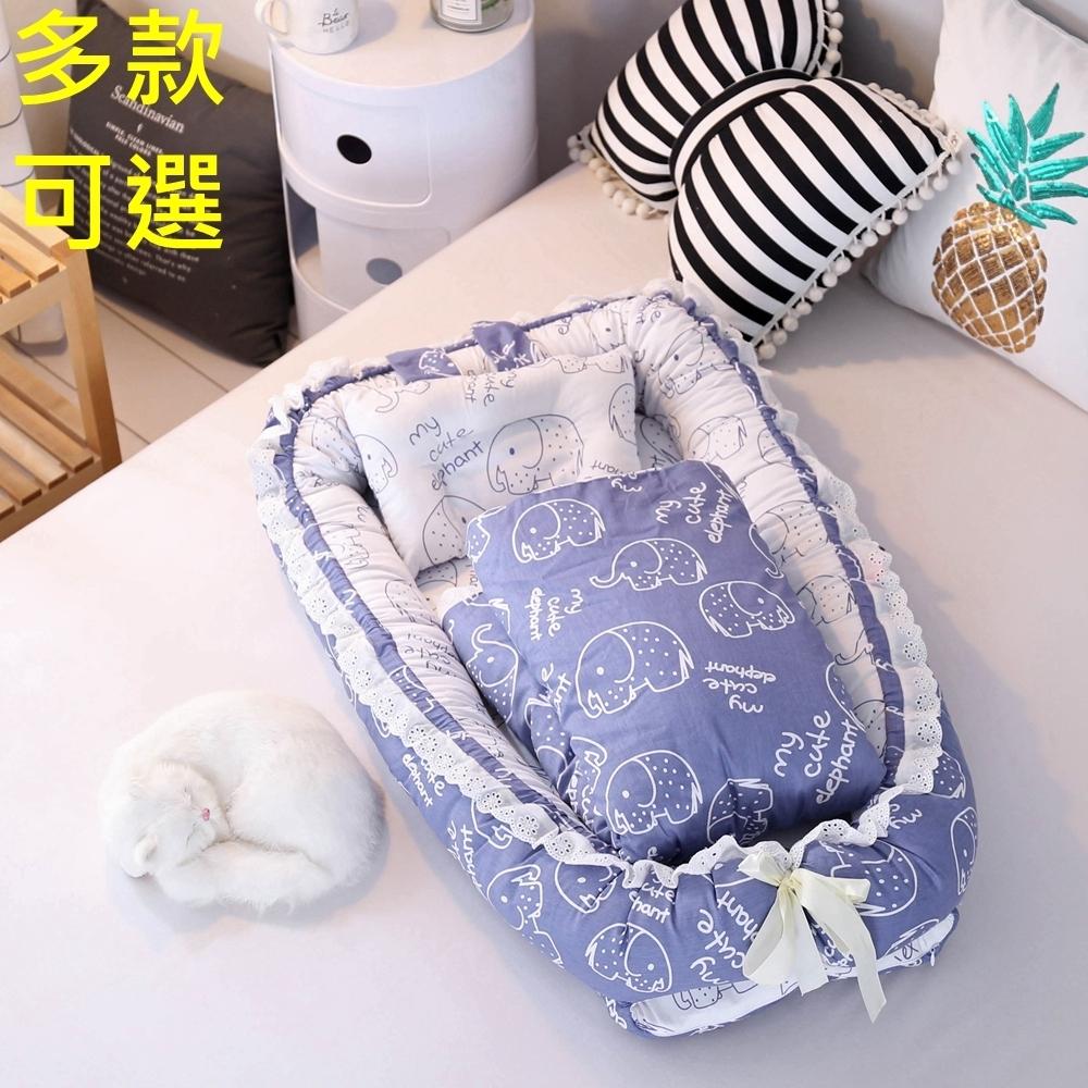 [Kori Deer 可莉鹿] 花邊純棉多功能床中床附被子