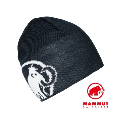 【Mammut】Tweak Beanie 保暖針織LOGO羊毛帽 海洋藍 #1191-01352