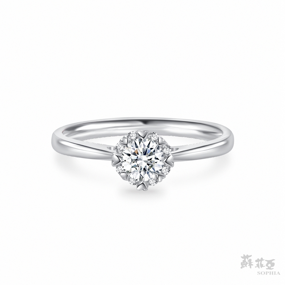 SOPHIA 蘇菲亞珠寶 - 費洛拉S 30分 18K白金 鑽石戒指