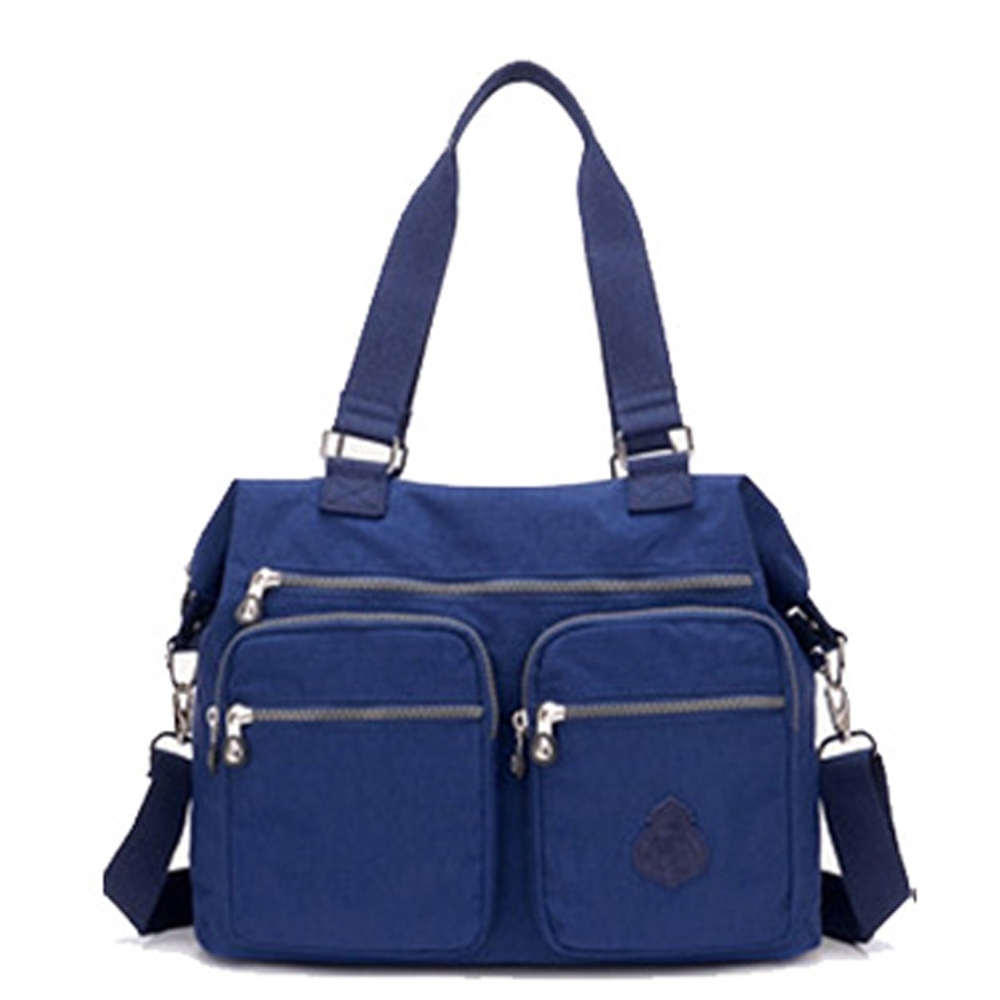 【KISSDIAMOND】防潑水超大容量手提媽媽包-6615(手提/肩背/大容量/深藍)