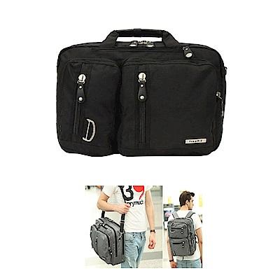 FREEBIZ   FB2103BK三用手提側後背包17.3吋黑色
