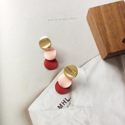 梨花HaNA 無耳洞/耳針款韓國創意拼色時髦度UP加分耳環