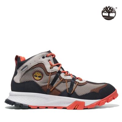 Timberland 男款橘灰配色Garrison Trail防水中筒健行靴|A2A31
