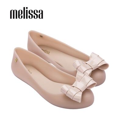 MELISSA  SWEET LOVE 素面立體蝴蝶結平底娃娃鞋-粉