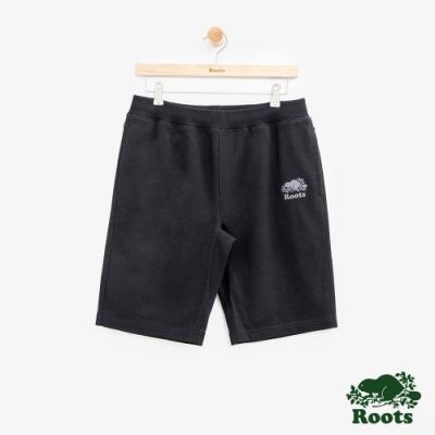 男裝Roots  BREATHE棉質短褲-黑