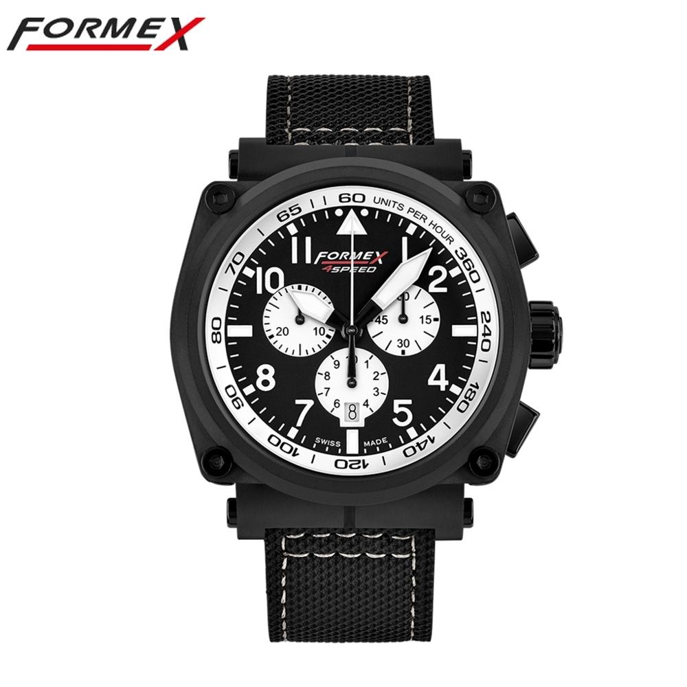 Formex 弗美克斯飛行系列石英計時碼錶 (黑x白圈)1100.4.3014.213