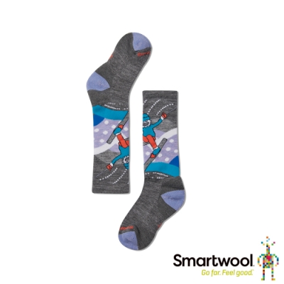 SmartWool 孩童好動寶寶高筒襪 中性灰