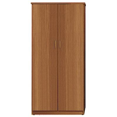 文創集 艾倫環保3尺塑鋼二門單吊衣櫃(二色)-91x61.5x180cm-免組