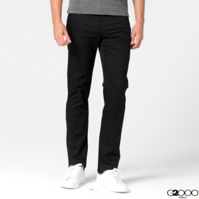 G2000斜紋休閒5袋長褲-黑色
