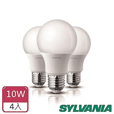 喜萬年SYLVANIA  10W LED超亮廣角燈泡- 4入組