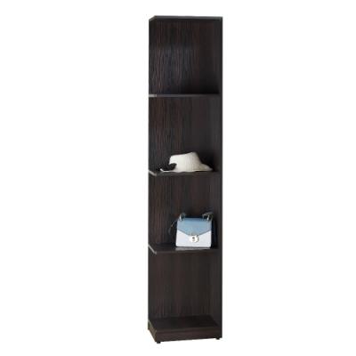 MUNA 艾曼積層色1.3尺側邊開放衣櫥/衣櫃(木心板) 38X40X203cm