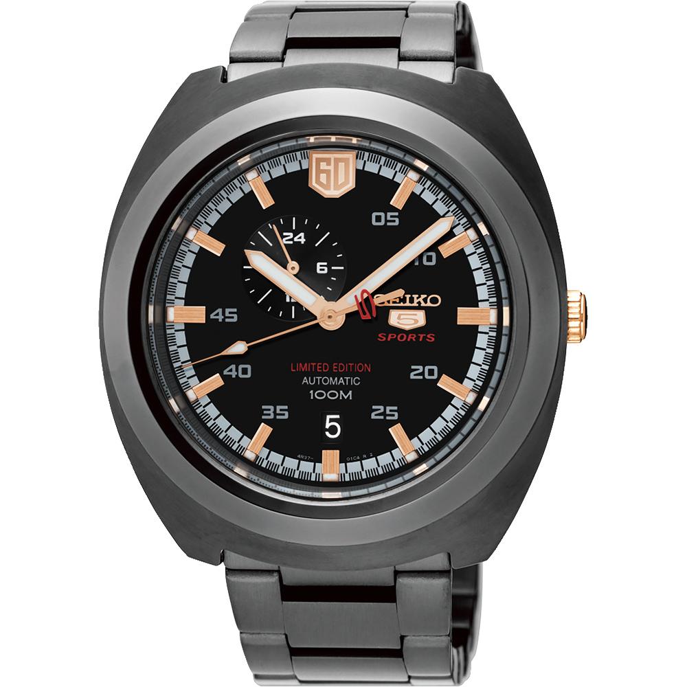 SEIKO 精工 5號盾牌60週年限定版機械錶(SSA315J1)-黑/45mm