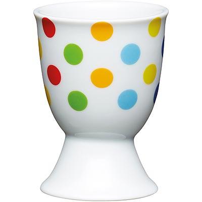 《KitchenCraft》瓷製蛋杯(彩點)