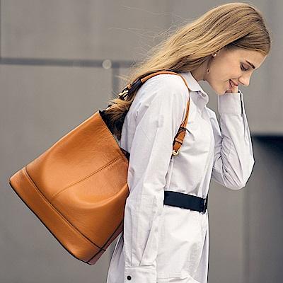 米蘭精品 肩背包真皮手提包-時尚荔枝紋子母斜背女包母親節生日禮物5色73md82