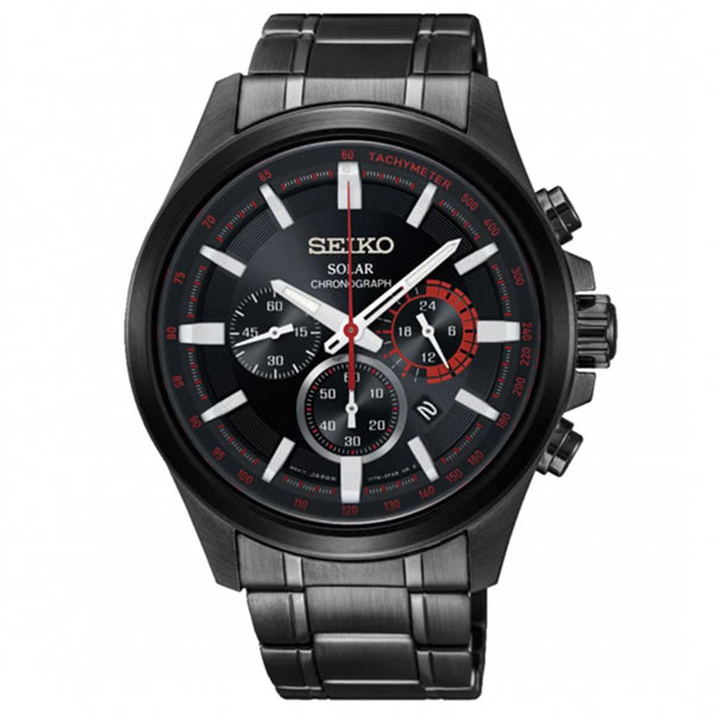 SEIKO 精工criteria 太陽能計時碼錶V175-0ER0X/SSC685P1