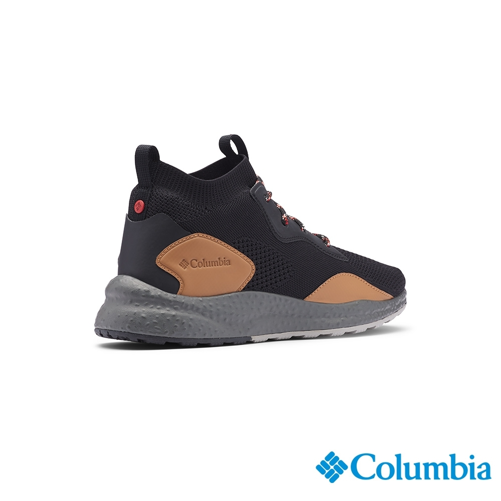 Columbia 哥倫比亞 男款- 高筒透氣健走鞋SH-黑色 UBM00820BK