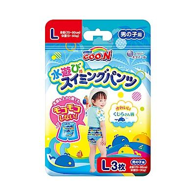 GOO.N 日本大王戲水褲(游泳專用紙尿褲)男L-3片/包
