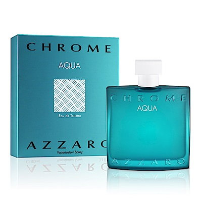 AZZARO chrome aqua 碧海鉻元素男性淡香水50ml