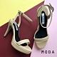 高跟鞋 正韓一字設計踝繫帶縷空高跟鞋(杏色) MODA product thumbnail 1
