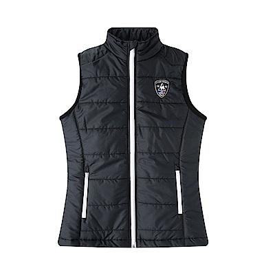 le coq sportif 法國公雞牌鋪棉背心 女-黑