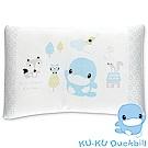 KU.KU酷咕鴨竹纖有機棉機能幼兒枕(藍/粉)