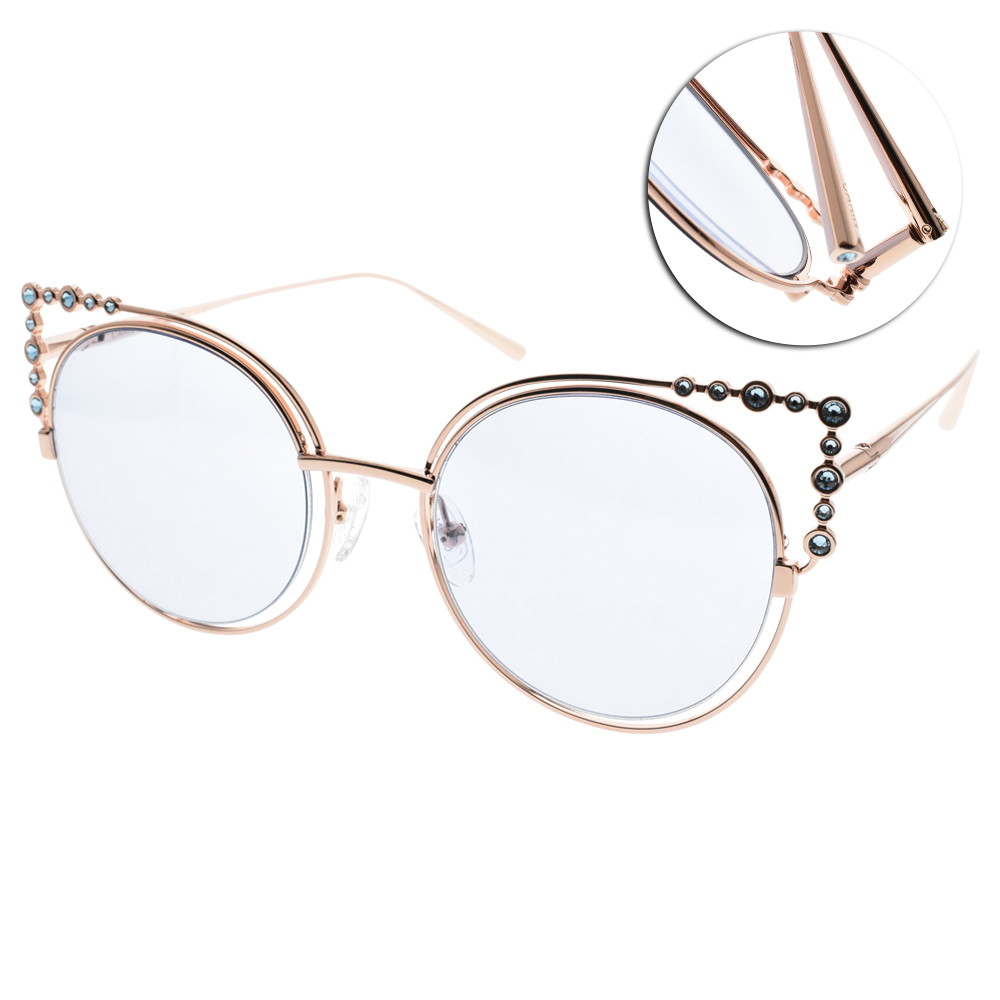CARIN太陽眼鏡 秀智代言 珍珠貓眼款/玫瑰金-藍 #CORONET C1