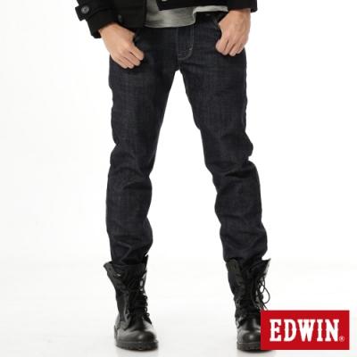 EDWIN EDGE LINE 大尺碼 雙口袋中直筒牛仔褲-男-原藍色