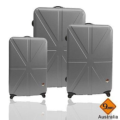 Gate9 米字英倫系列超值三件組28吋+24吋+20吋輕硬殼旅行箱/行李箱 灰色