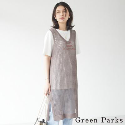 Green Parks 鉤針編織連身長版上衣