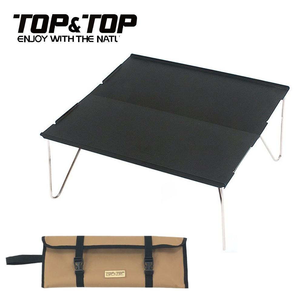 韓國TOP&TOP 超輕量鋁合金迷你拼接桌 鋁合金桌 露營桌 機車露營 單人桌