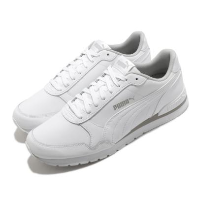 Puma 休閒鞋 ST Runner V2 運動 男鞋 輕量 透氣 舒適 避震 基本款 簡約 白 灰 36527716