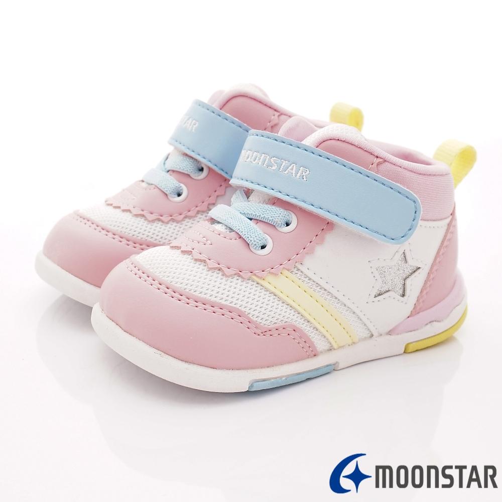 零碼14cm-日本Carrot機能童鞋 HI系列鞋款 B954粉白