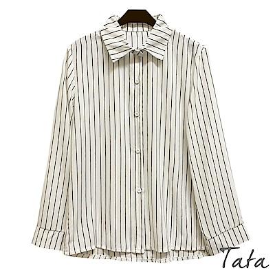 直條紋雪紡襯衫 TATA