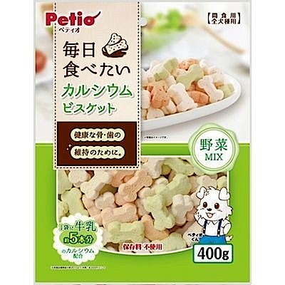 Petio 每日必備營養高鈣餅-野菜MIX400GX3包組