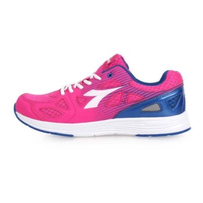 DIADORA 女慢跑鞋-訓練 健身 路跑 反光 桃紅白