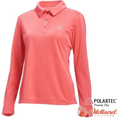 Wildland 荒野 P1607-78粉橘色 女POLARTEC長袖功能衣