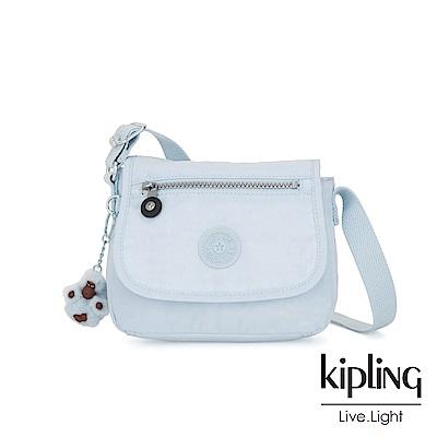 Kipling 棉花糖藍掀蓋側背小包-SABIAN