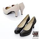 SM-真皮款-優雅可愛高跟鞋2色