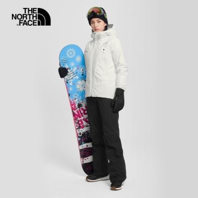 The North Face北面女款黑色防水透氣雪褲|3M56JK3