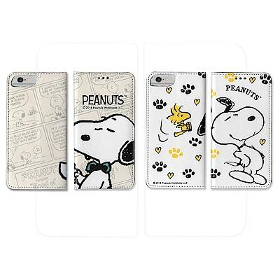 【正版授權】Snoopy Iphone 6/6s/7/8 彩繪翻蓋保護皮套