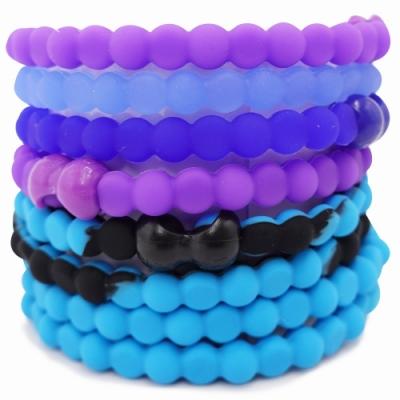 Pro Hair Tie 扣環髮圈8件組-藍色海洋